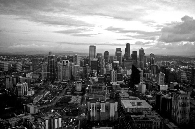 Day View from Space Needle Observationl Deck