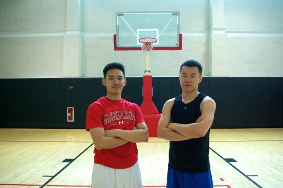 我跟Joe,兩個台灣左撇子球員的合影。